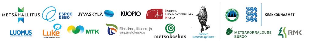 Liito-orava LIFE -hankkeen partnereiden logot.